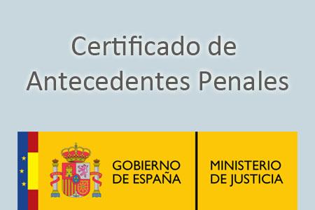 Certificat antecedents penals per treballar amb menors.