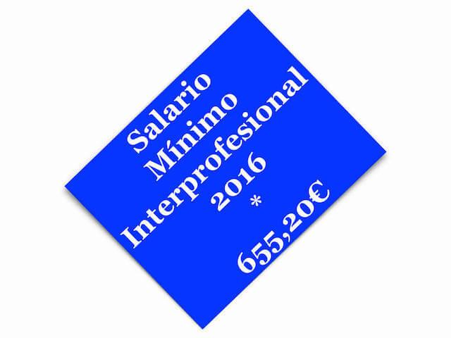FIJADO EL SALARIO MÍNIMO INTERPROFESIONAL PARA 2016 Y LA REVALORIZACIÓN DE LAS PENSIONES