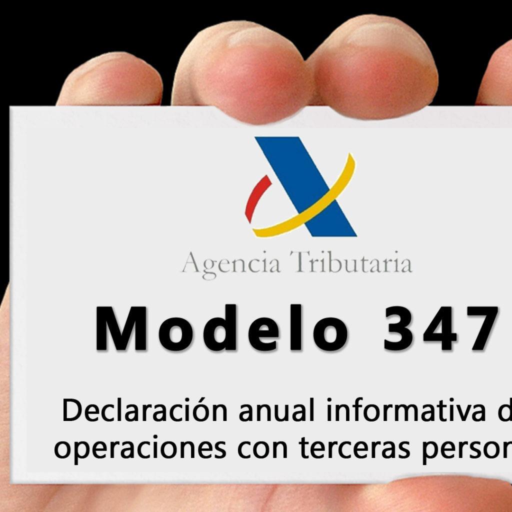 """El plazo para presentar el Modelo 347 """"declaración anual operaciones con terceras personas"""" finaliza el próximo 29 de febrero"""